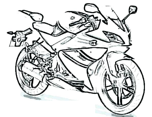 600x464 Free Printable Motorcycle Coloring Pages