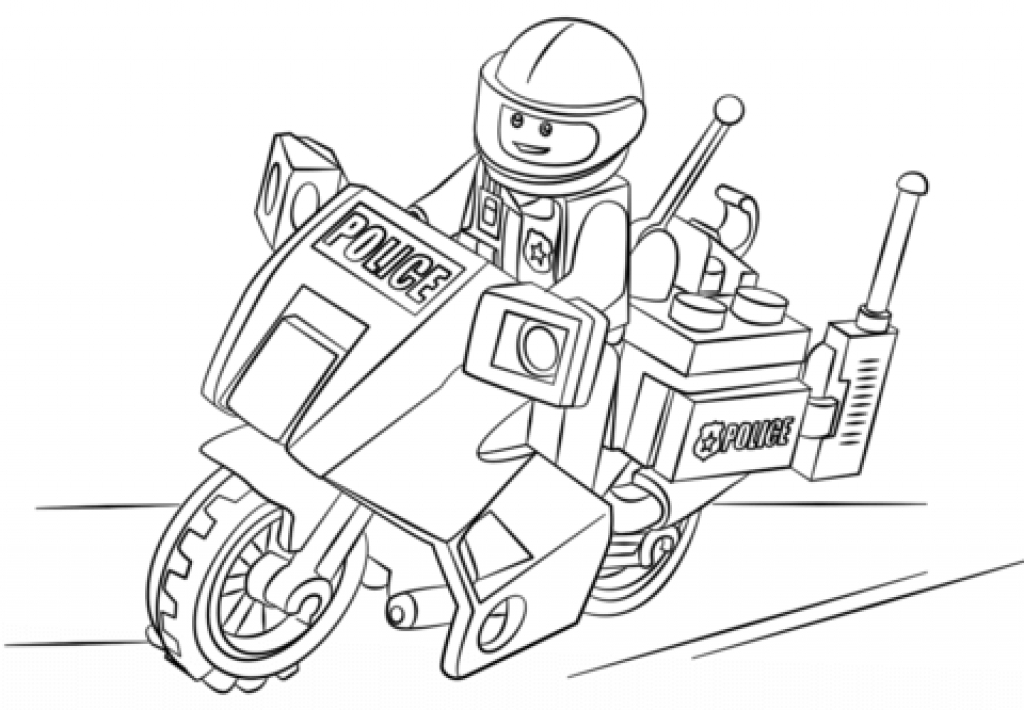 1024x710 Police Motorcycle Coloring Pages Lego Police Coloring Pages
