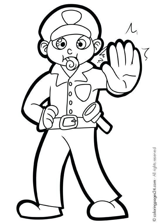 539x765 Police Coloring Books Kids Coloring Special Police Officer