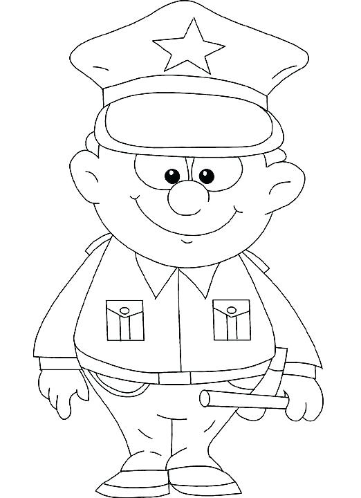 522x720 Police Officer Coloring Page Educational Coloring Pages