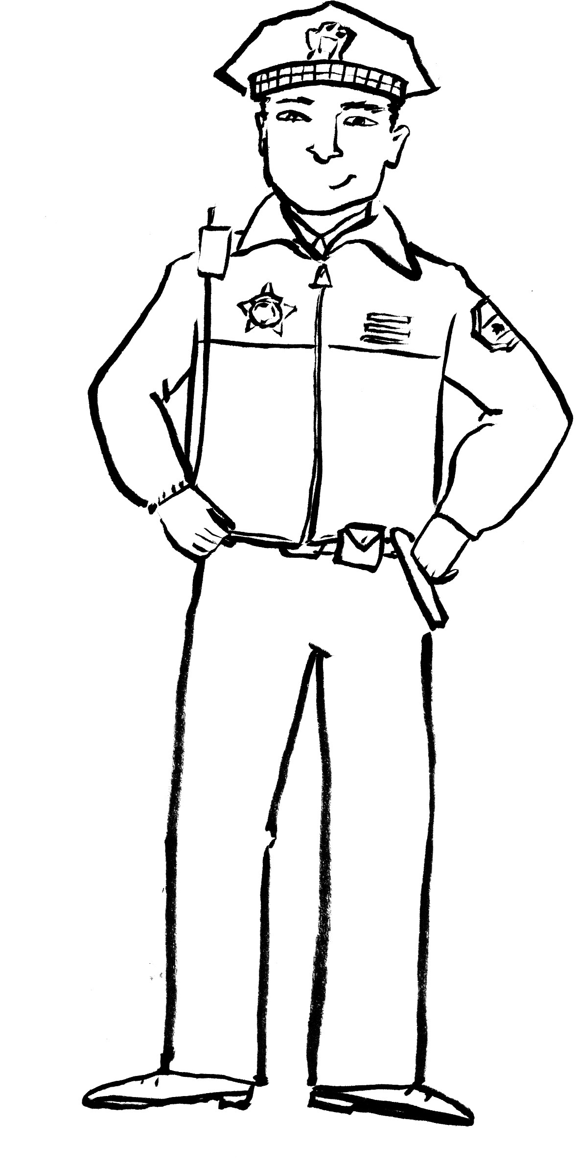 1183x2387 Police Officer Coloring Pages