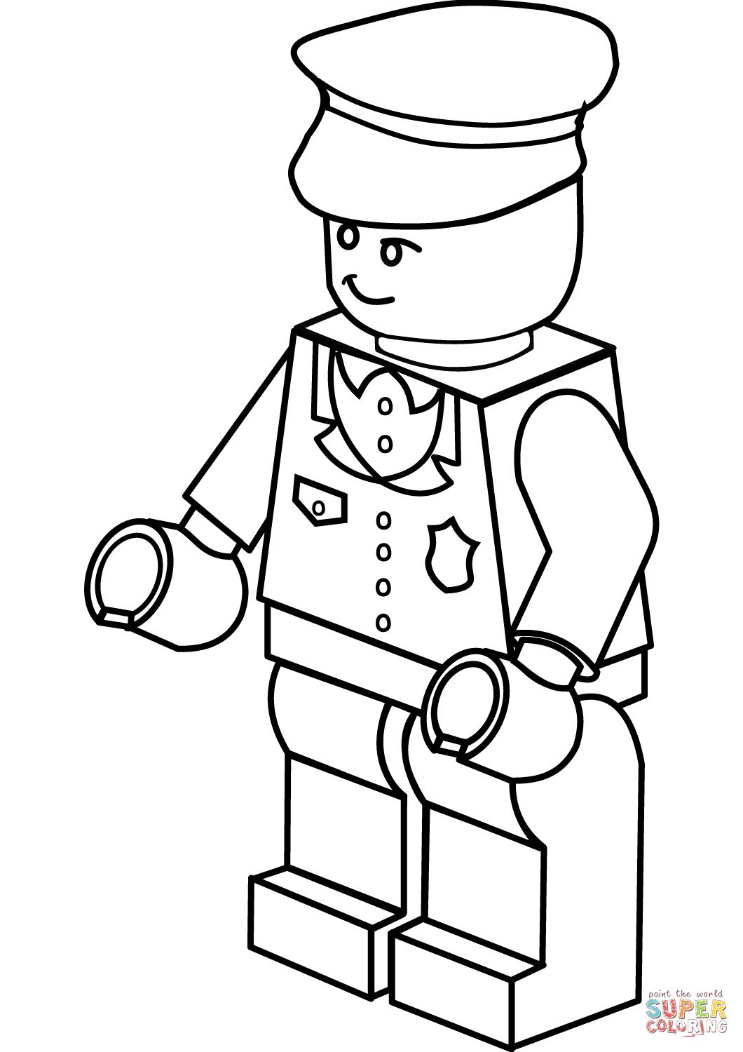 1060x1500 Popular Policeman Coloring Page Lego Free Printable Pages