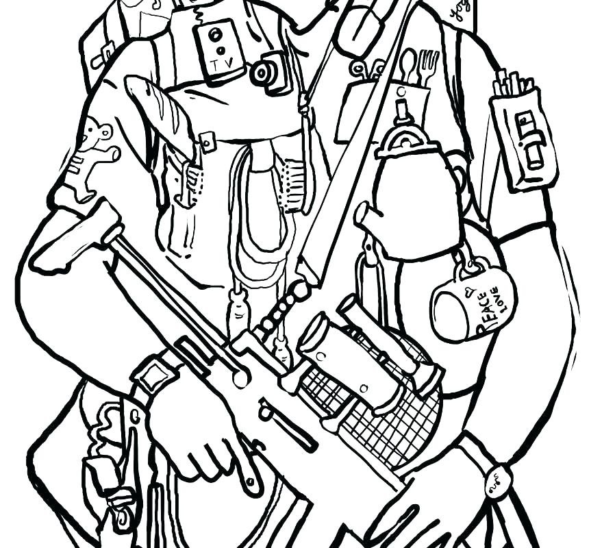 898x800 Police Officer Coloring Page