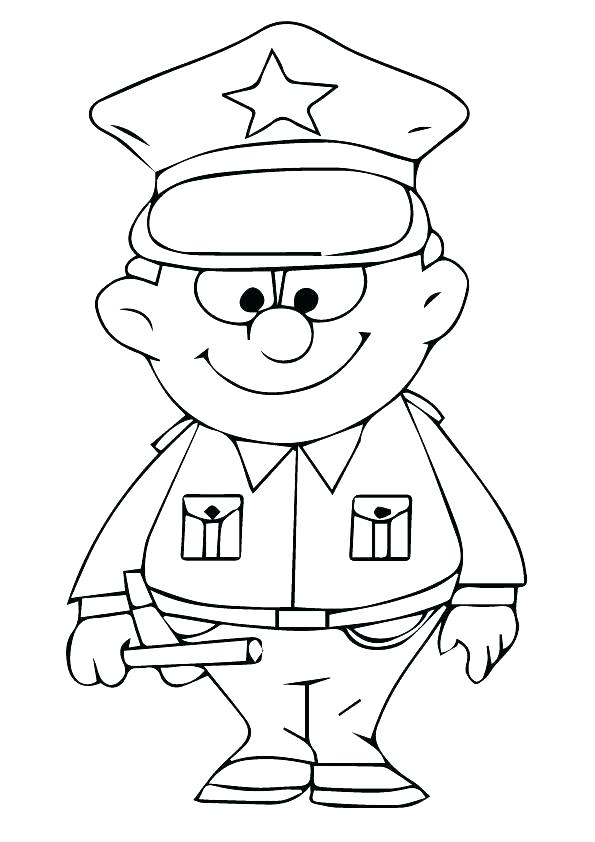 595x842 Coloring Pages Of Police Officers Law Enforcement Coloring Books
