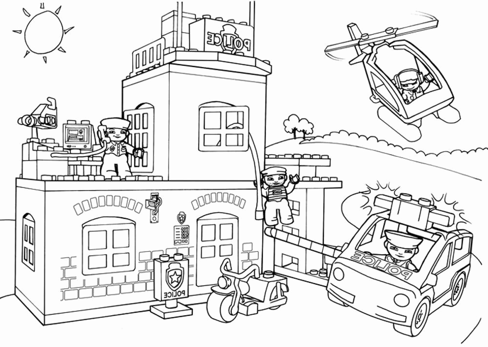 1000x711 Police Badge Coloring Page Inspirational Police Station Drawing