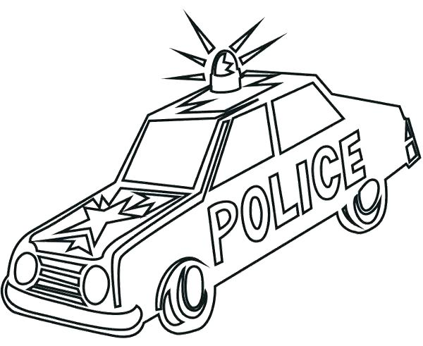 600x491 Police Colouring Pages Car Printable Coloring Pages Police Car