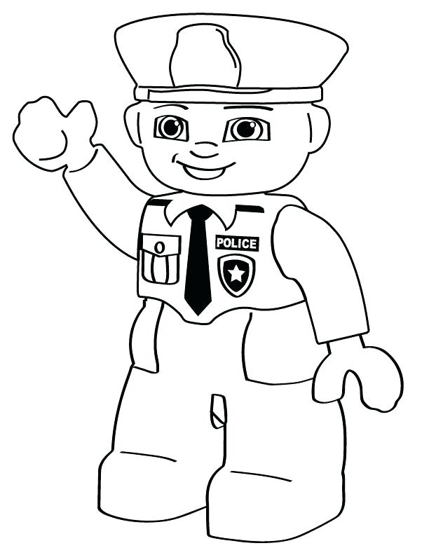 612x792 Police Colouring Pages Police Person Free Printable Coloring Pages