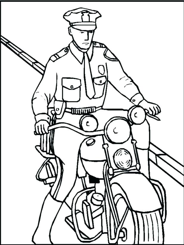 618x824 Police Hat Coloring Page Police Coloring Pictures Policeman