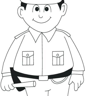 357x400 Policeman Coloring Page Policeman Coloring Pages Police Policeman