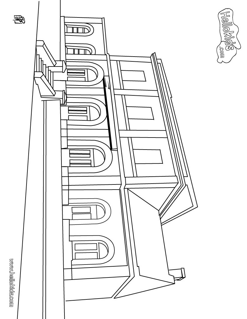 820x1060 Train Station Coloring Pages