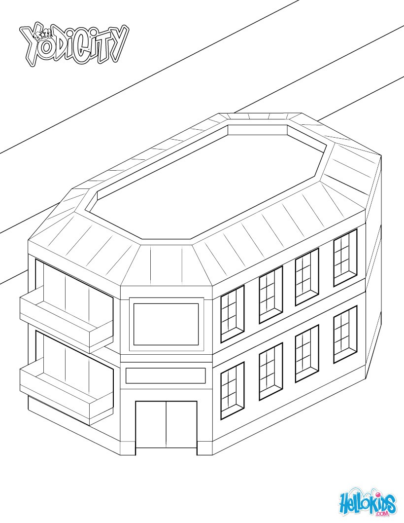 820x1060 Yodicity Police Station Coloring Pages