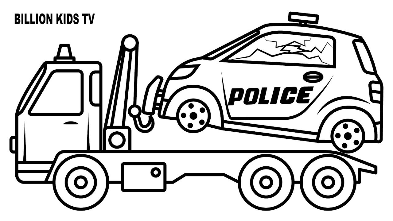police truck coloring pages 4