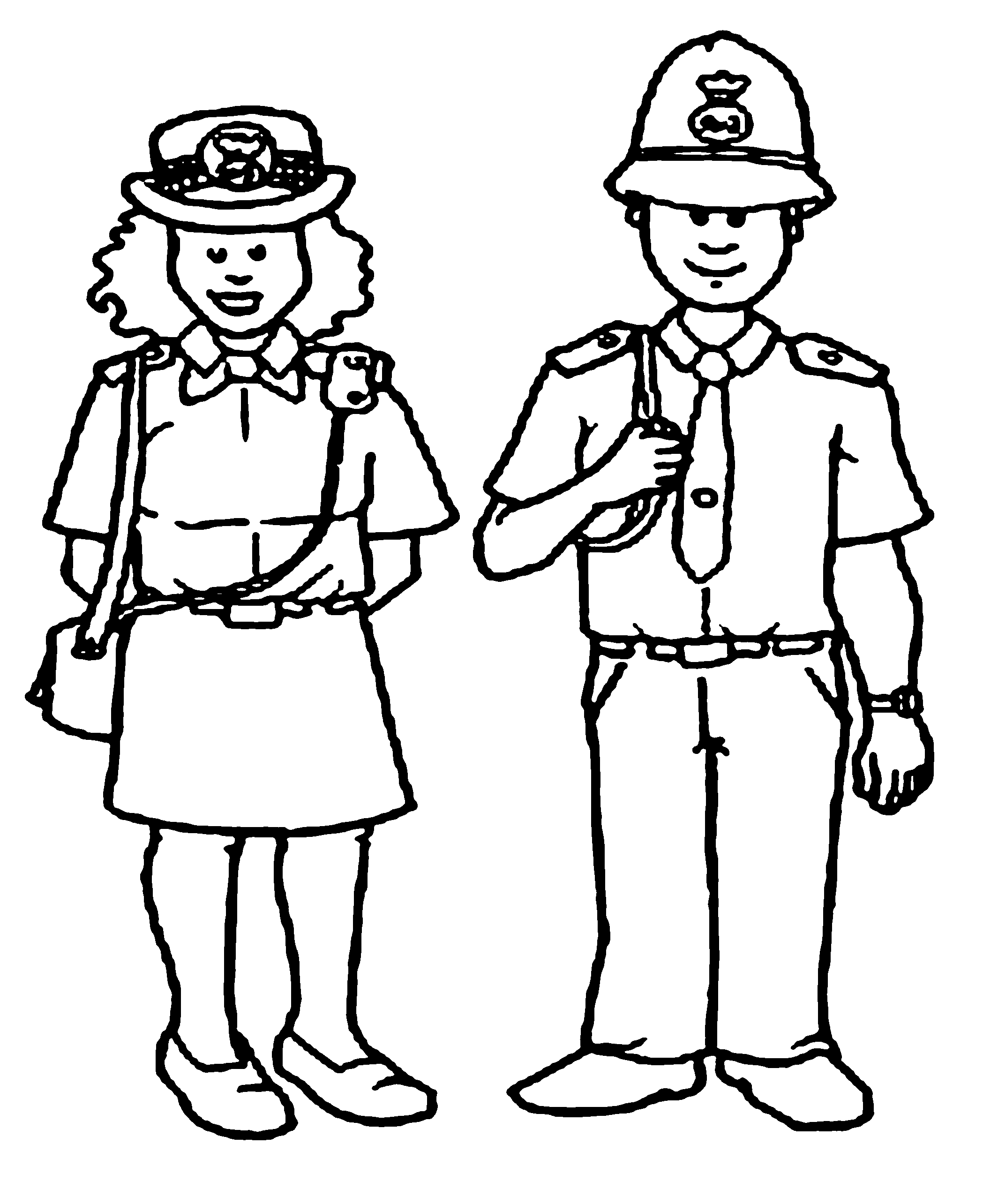 Police Uniform Coloring Pages