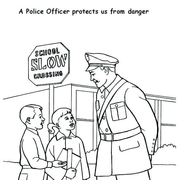600x606 Police Officer Coloring Page Road Coloring Pages Police Officer