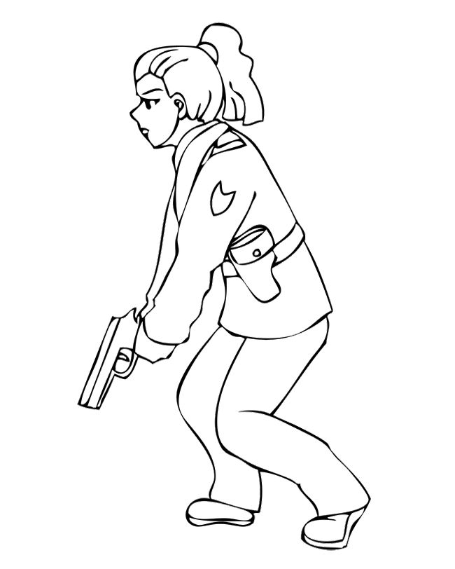 650x812 Police Woman Getting Shot Coloring Pages Kids Coloring Pages