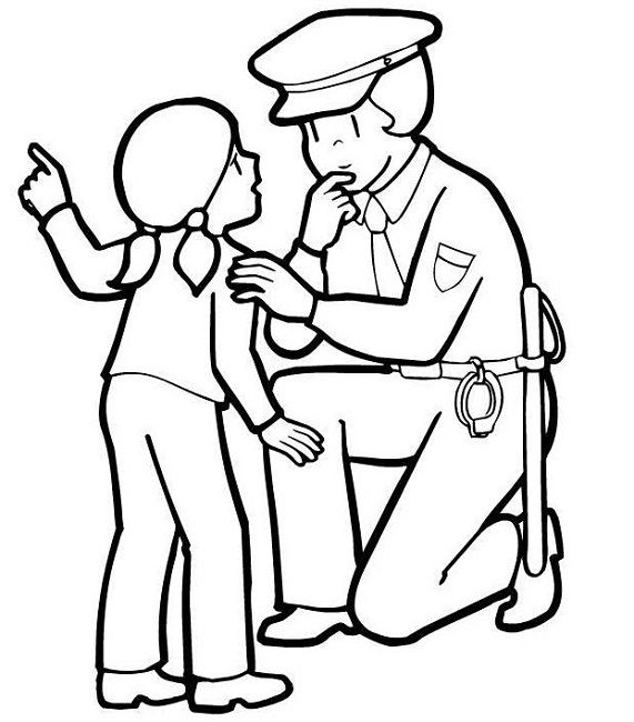 571x650 Police Woman Coloring Pages Woman Pencil Tool