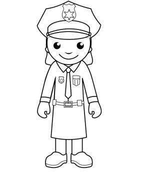 284x350 Free Printable Police Women Coloring Pages Kids Coloring Pages