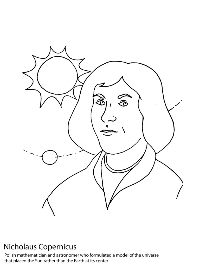 792x1024 Nicolaus Copernicus Poland Coloring Pages