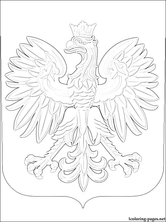 560x750 Poland Coat Of Arms Coloring Page Coloring Pages