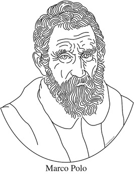 266x350 Marco Polo Clip Art, Coloring Page, Or Mini Poster