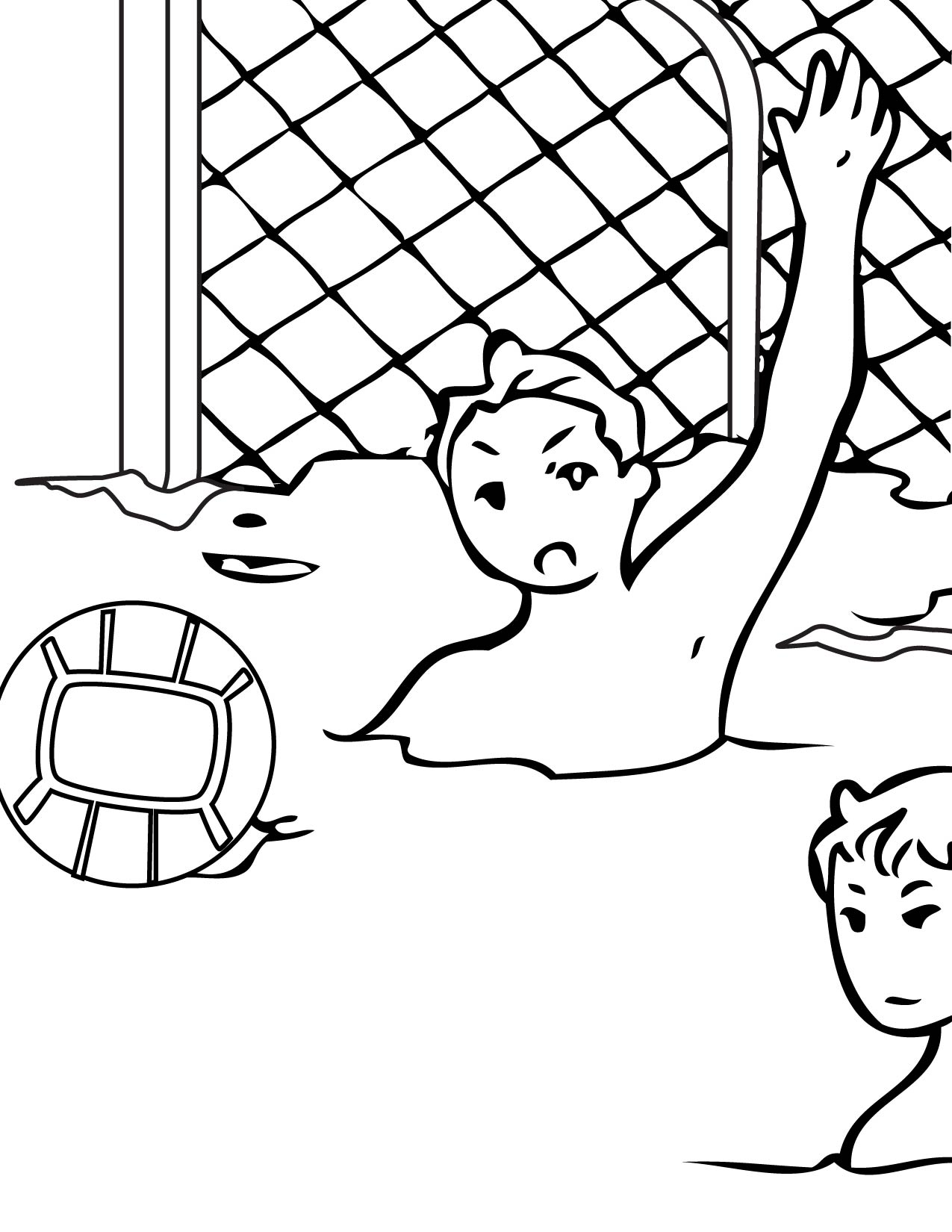 1275x1650 Water Polo Coloring Page