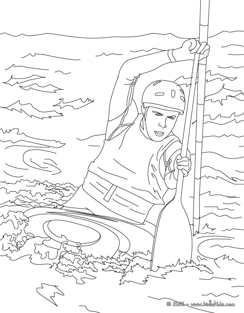 821x1050 Coloring Pages Kids Canoes Water Sports Free Printable Adult
