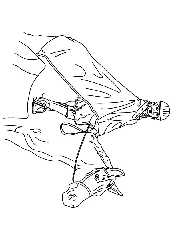 595x842 Download Free Polo Player Coloring Page