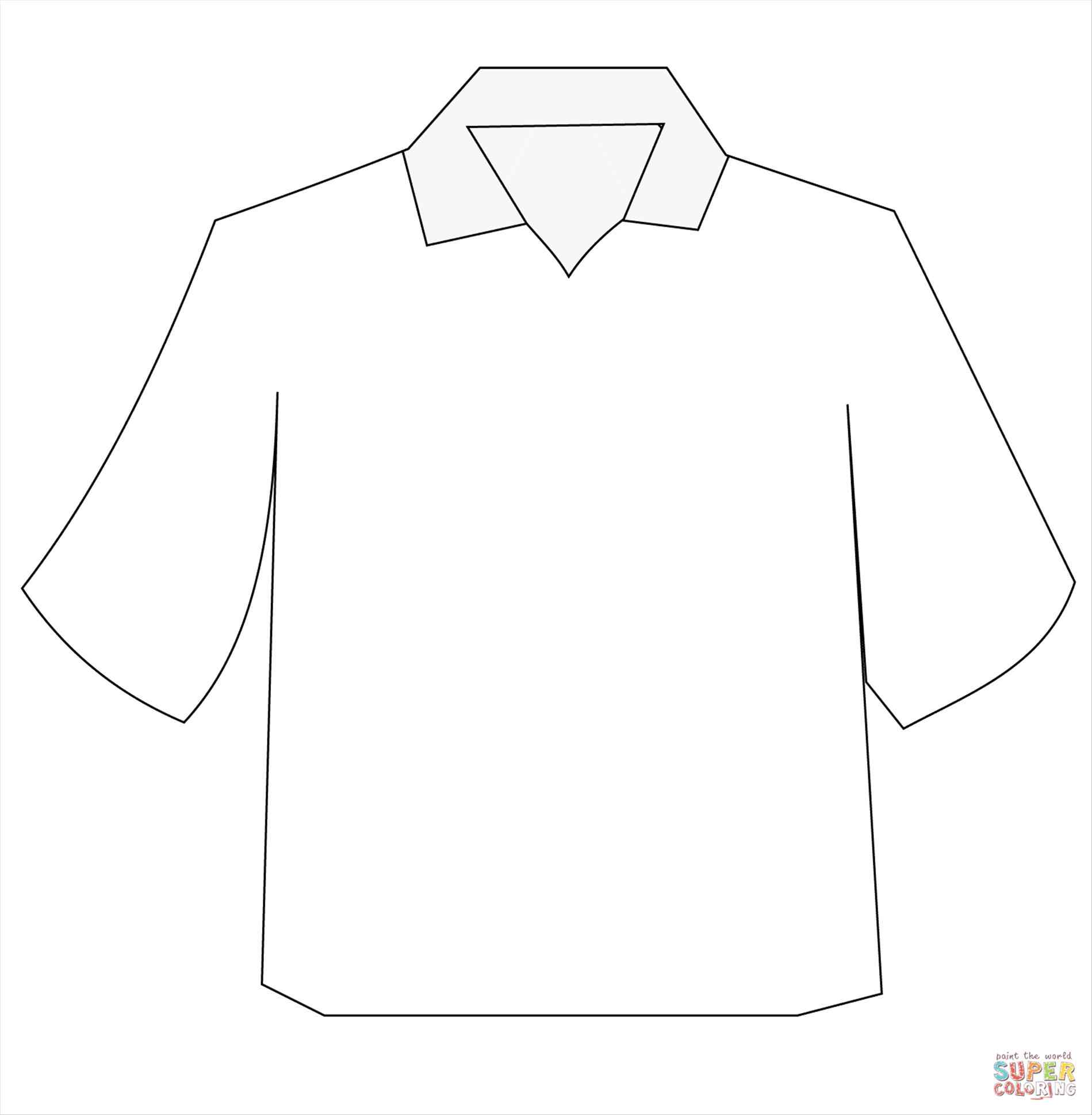 1899x1938 Dress Shirt Coloring Page Online Coloring Printable