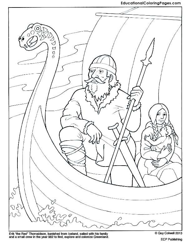 612x792 Eric The Red Coloring Page Mystery Of History Volume Lesson
