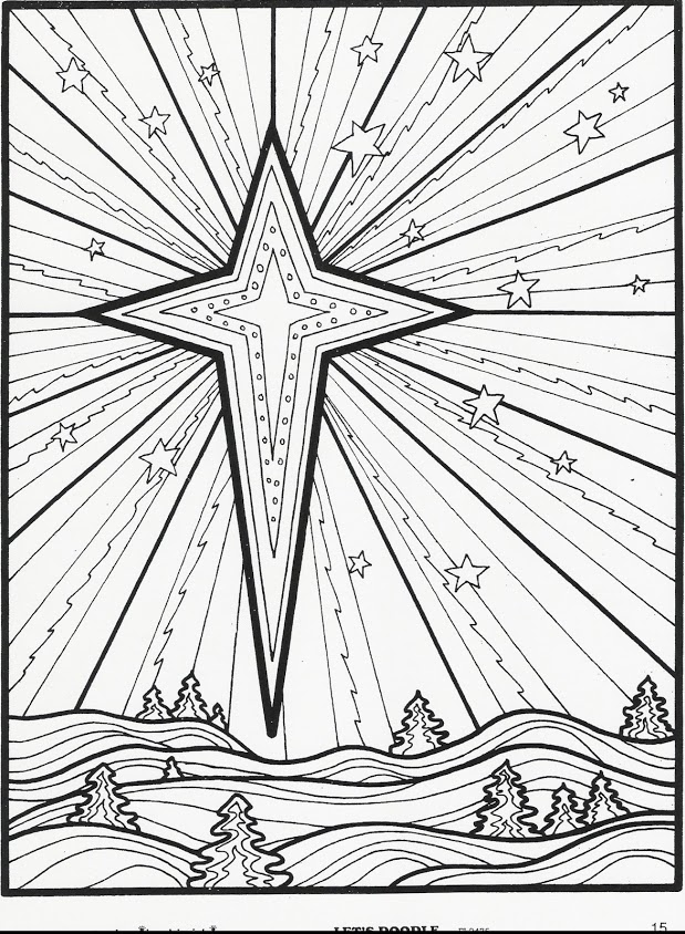 619x844 Coloring Pages For Christmas Star New