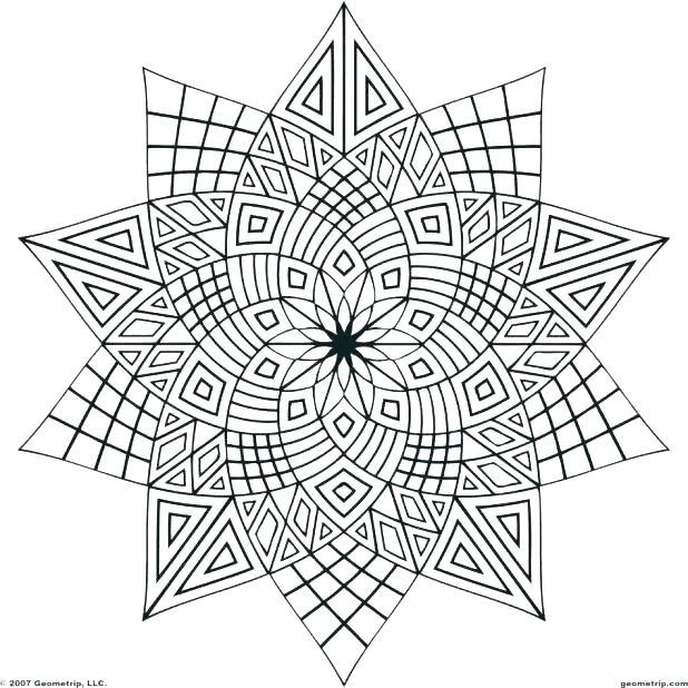 618x618 Geometrical Design Coloring Book Plus Geometrical Design Coloring