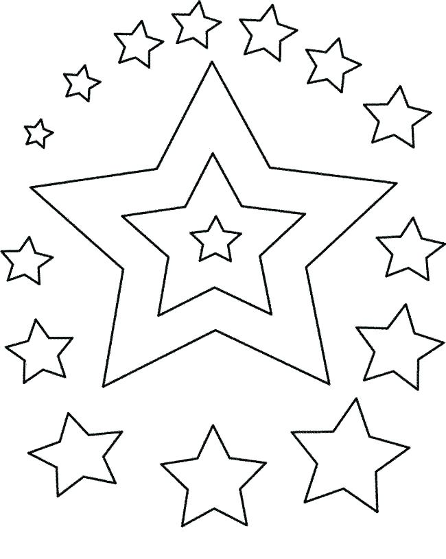 650x815 Star Colouring Pages