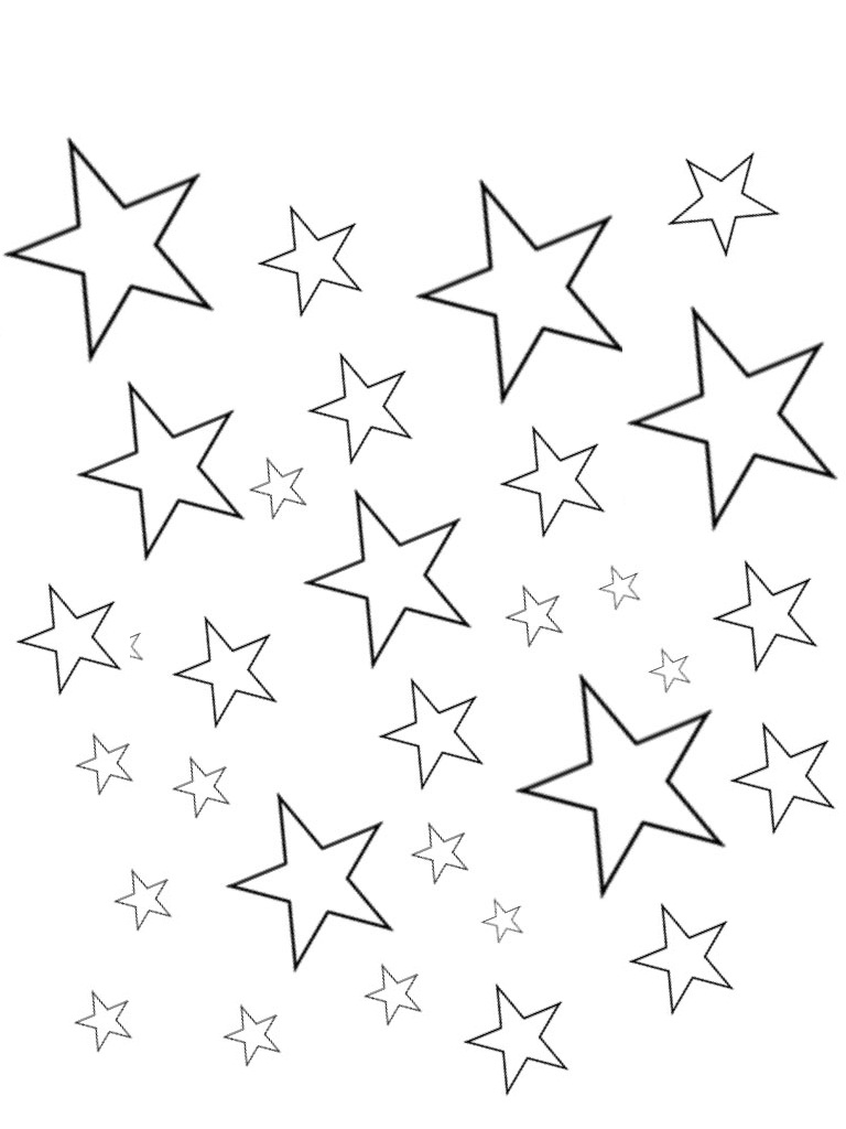 768x1024 Stars Coloring Page