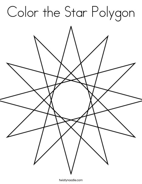 468x605 Color The Star Polygon Coloring Page
