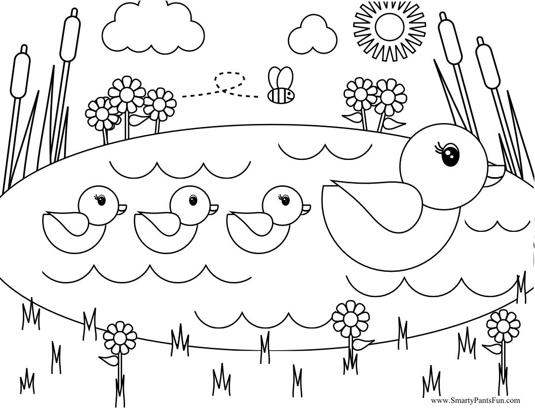 1056x816 Awesome Pond Coloring Pages About Remodel Picture With For Animal