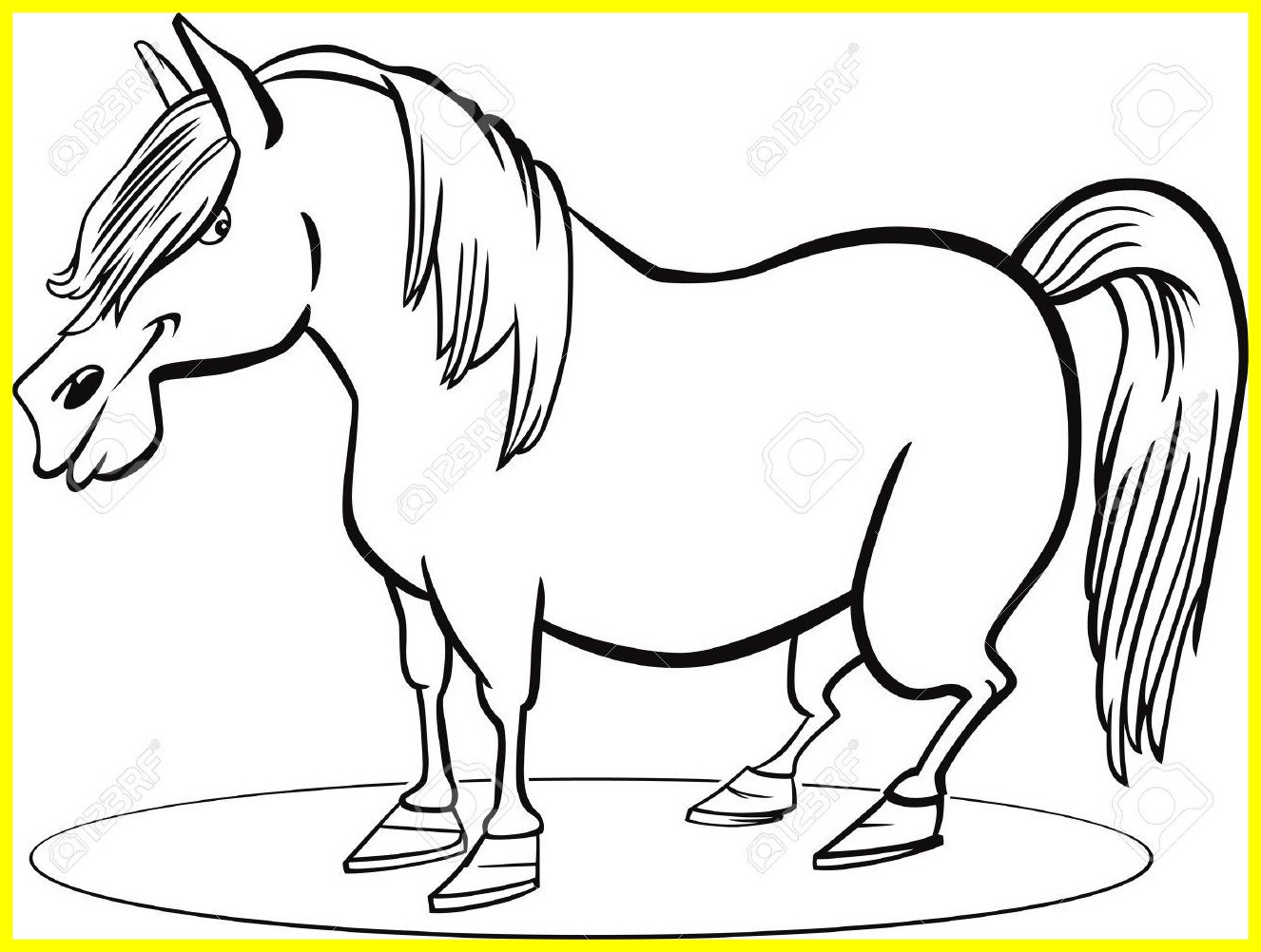 Pony Horse Coloring Pages