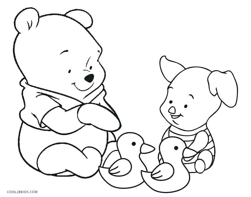 Pooh Bear Coloring Pages At Getdrawings Com Free For