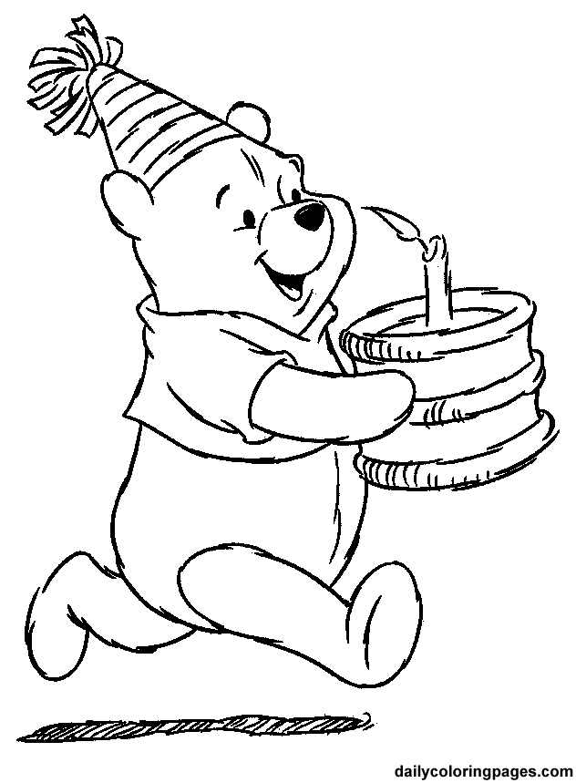 632x859 Winnie The Pooh Birthday Coloring Pages Birthday Ideas