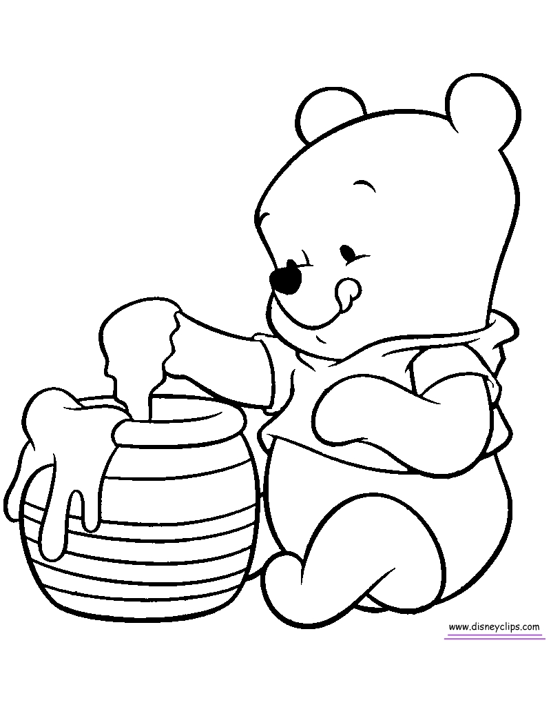 800x1022 Winnie The Pooh Coloring Books Download