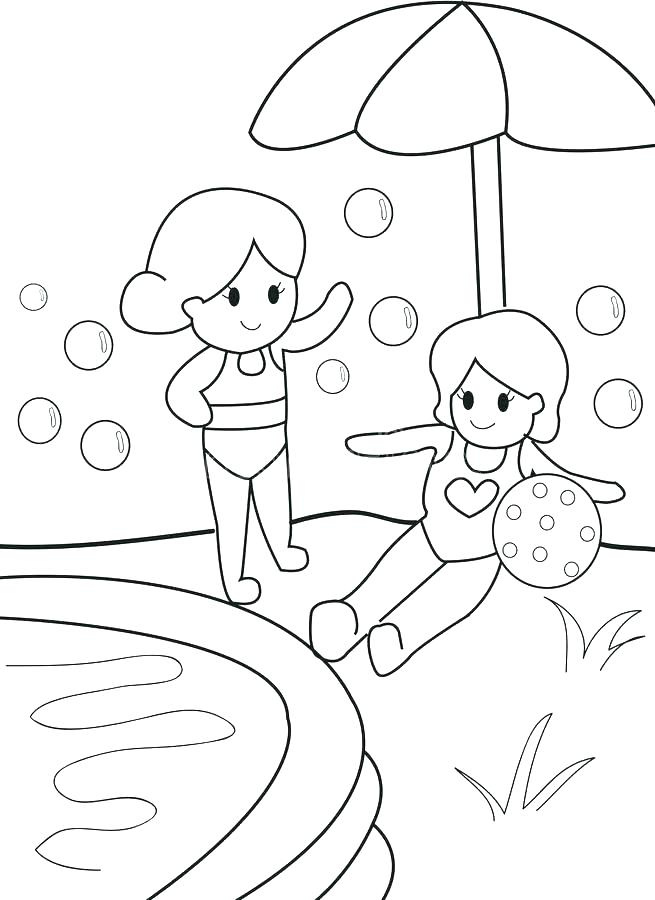 Pool Coloring Page At Getdrawings Free Download