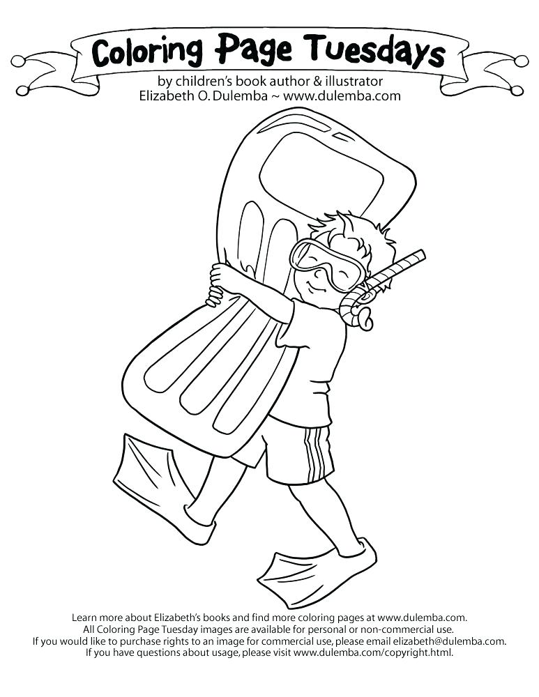 773x1000 Swimming Coloring Page