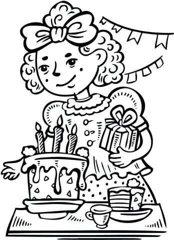 348x480 Party Coloring Pages Birthday Party Coloring Page Click To See