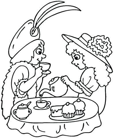 396x480 Party Coloring Pages Click To See Printable Version Of Tea Party