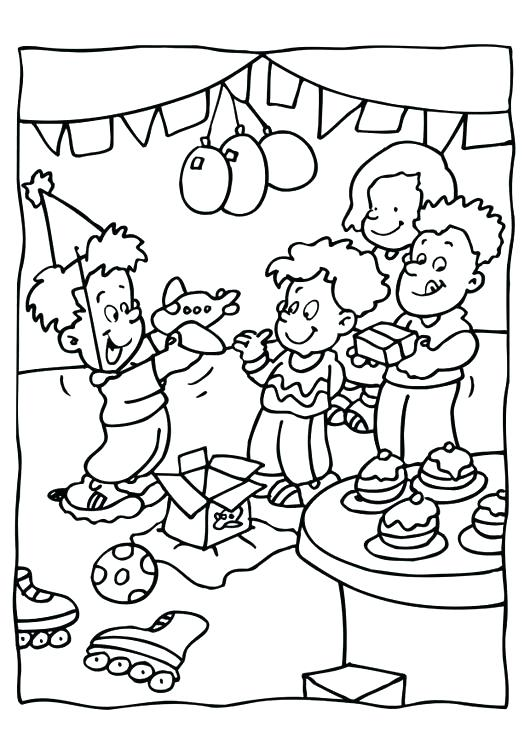 530x750 Party Coloring Pages Party Coloring Pages Birthday Party Coloring