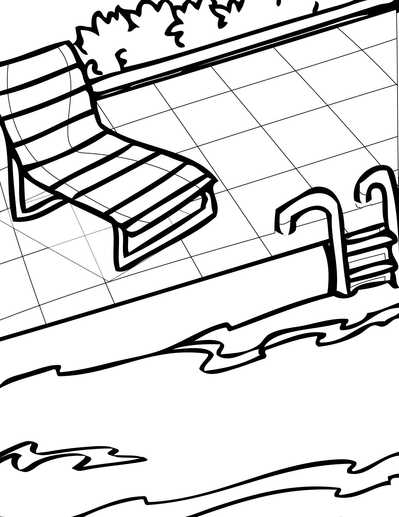 1275x1650 Pool Coloring Page