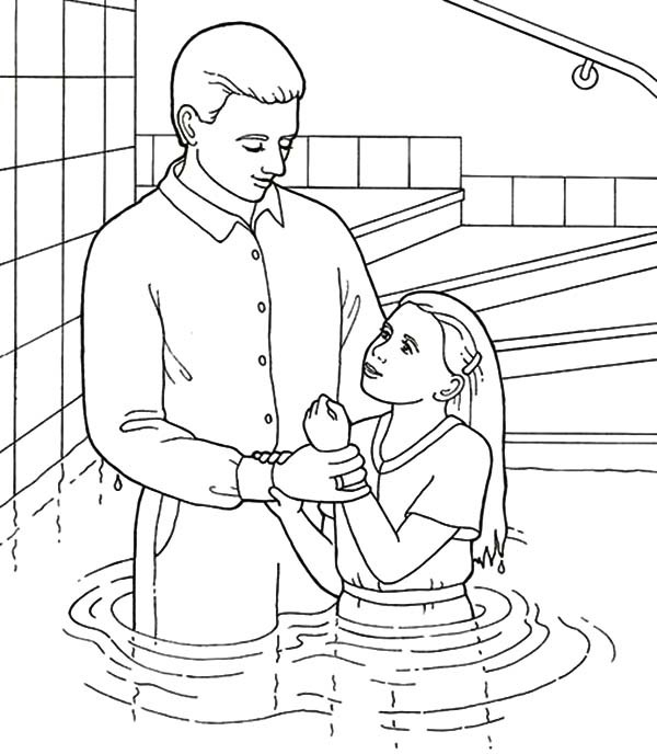 600x688 Pool Party Coloring Pages Baptism In A Pool Coloring Pages Best