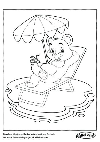 350x495 Pool Party Coloring Sheets Summer Colouring Pages Badminton Page