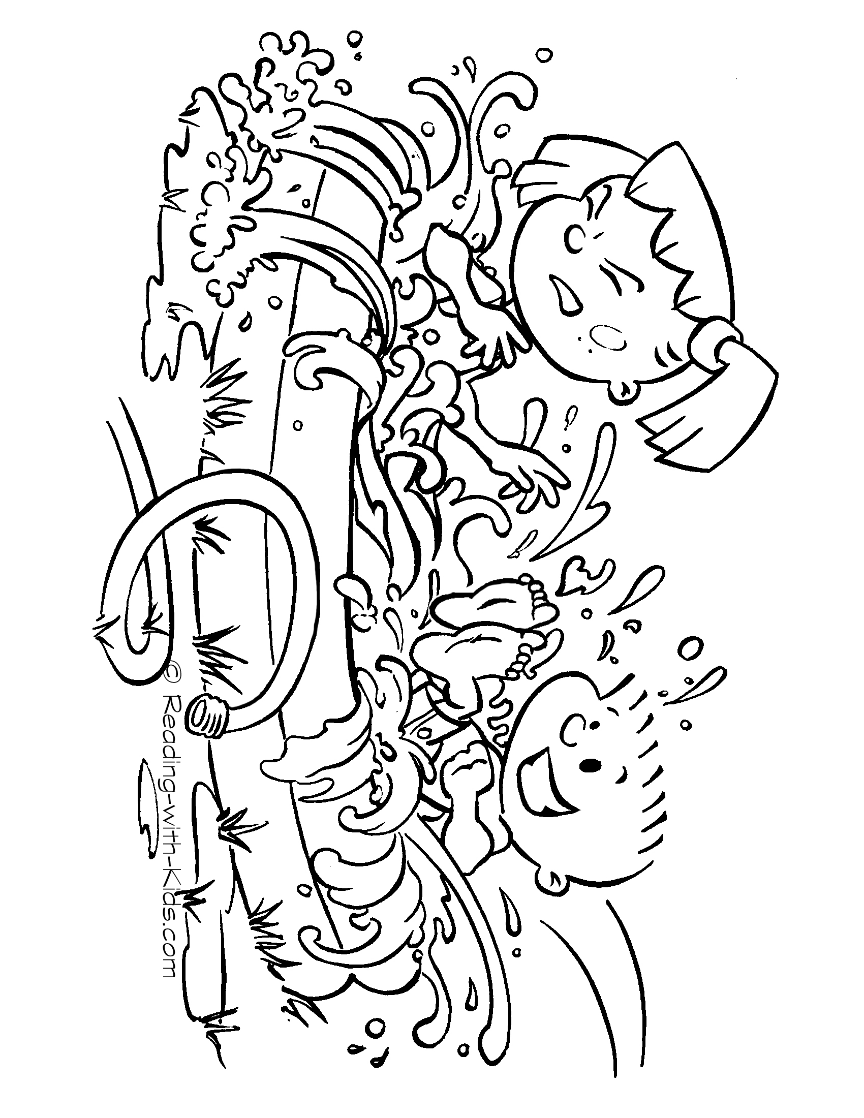 1700x2200 Summer Pool Party Coloring Page Seasons Summer