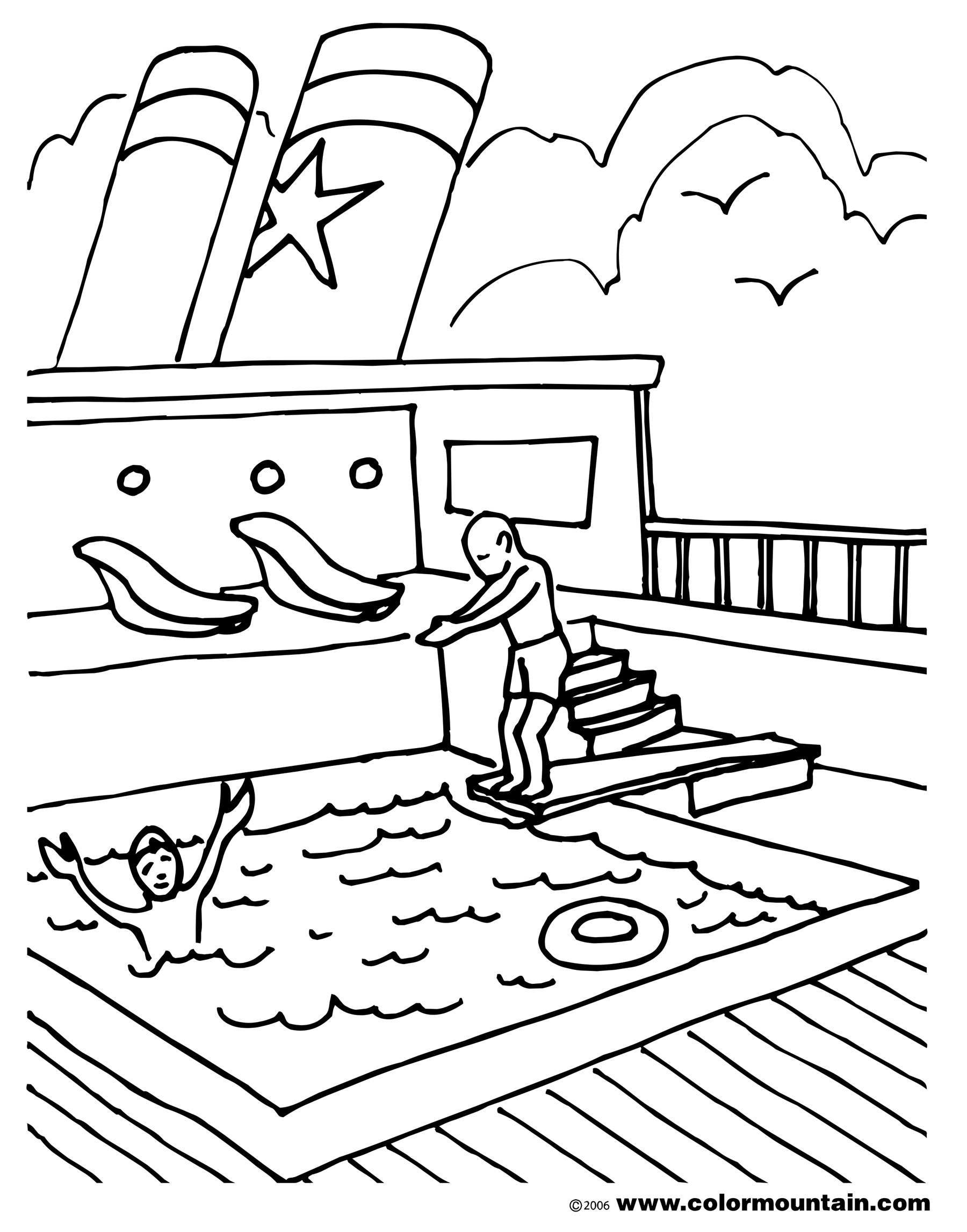 1800x2294 Swimming Coloring Pages Unique Pool Home Of Coloriafes Disney