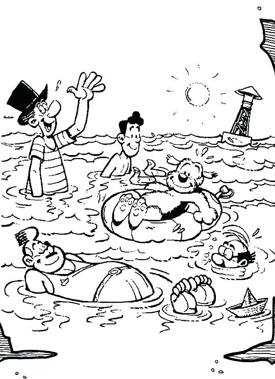 540x743 Swimming Pool Coloring Pages Swimming Pool Safety Coloring Pages